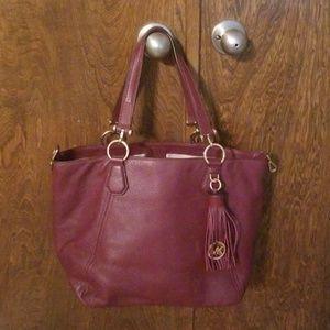 Michael Kors burgundy bag purse